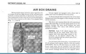 Detroit Diesel Air Box Drains 6V92 8V92 Series - Luxury